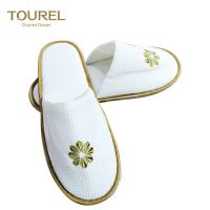 China Handmade fashion Closed toe disposable hotel slippers wholesale