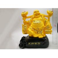 China Poly Resin Custom Trophy Cup , Gold Plated Laughing Buddha Religious Crafts on sale