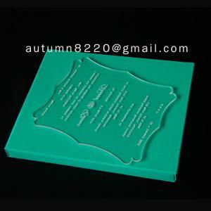 China acrylic wedding invitation card wholesale