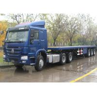 China Container Chassis Trailer Flat Bed Trailors , Skeleton Semi Low Bed Semi Trailer wholesale