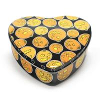 China Set Of 5 Halloween Pumpkin Heart Tins wholesale