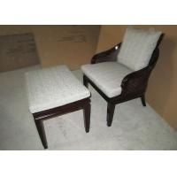 China Wooden Lounge Chair For Living Room , Transitional Accent Chair with Ottoman wholesale