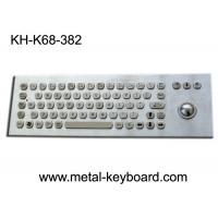 Buy cheap 67 Keys Ruggedized Keyboard / Metal Computer Keyboard with Laser Trackball from wholesalers