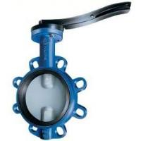 worm gear operated 4 ANSI groove butterfly valve