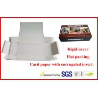 China 1000g Grey Rigid Board Folding Magnetic Gift Packaging Boxes , Offset Printed Pen Gift Packaging Boxes wholesale