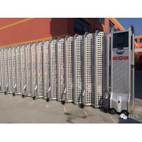 China Aluminium Alloy Expandable Electric Retractable Gate Folding With Mesh Screen wholesale