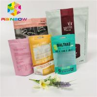 China Matte Tea Bags Packaging Stand Up Aluminum Foil Bag With Zipper / Tearing Notch wholesale