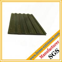 China antique surface brass extrusion profiles floor nosing on sale