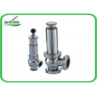 China Intelligent Sanitary Pressure Relief Valve For Pipeline System Protection wholesale