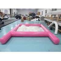 China 3m X 3m PVC Inflatable Yacht Net Floating Swimming Pool With Ladder wholesale