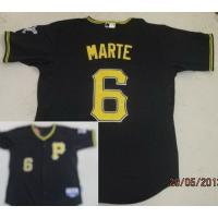 China Pittsburgh Pirates 6 Starling Marte Black Cool Base MLB Jerseys wholesale