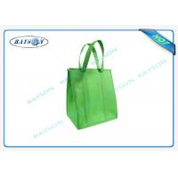 China eco promotional long handle pp non woven cooler bag with zipper wholesale