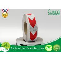 China Dark Self Adhesive Arrow Reflective Electrical Warning Tape For Truck / Vehicles wholesale