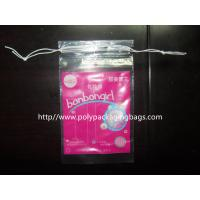 China Cotton Swabs Small Drawstring Plastic Bags Transparent Storage Bags wholesale
