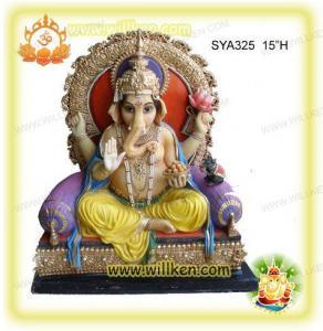 China Polyresin Hindu God Statues-sitting Ganesh Murti wholesale