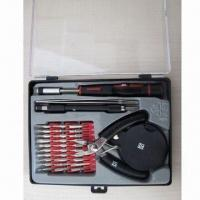 China PC Repair Tool Set with 30 Pieces of 28mm Mini Bits, Cr-v and Nickel-plated wholesale