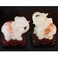 China Imitation jade prosperous lucky elephant for resin crafts gifts wholesale