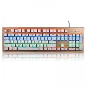 China Mechanical Gaming Multimedia Bezel Keyboard USB Interface104 Keys wholesale