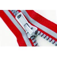 Quality Fashion 5# Red And Gray Plastic Reflective Zipper apparel, luggage accessories for sale