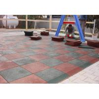China Customized Playground Surface Tiles 1000x1000x(15-50)Mm Safety Large Size on sale