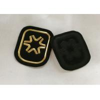 Quality Black And Gold Embossed 3D Rubber Patches Custom  Badges For Soprtswear for sale