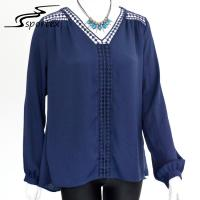 China Long Sleeve Women's Plus Size Blouses Stylish Clothing For Spring / Summer on sale