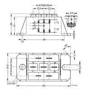 China VUO50-16NO3 Standard Rectifier Module 3~ Rectifier Bridge Package with DCB ceramic IXYS IGBT Power Module on sale