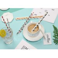 China Colorful Attractive Paper Party Straws With Food Safe Non Toxic Harmless Ink on sale