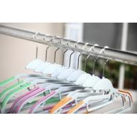 China Colorful Durable Velvet Coated Hangers Space Saver Clothes Hangers wholesale