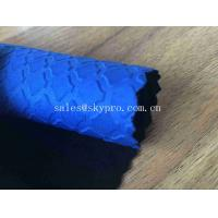 China Heat Resistant Blue Commercial Neoprene Fabric Roll 3mm Stability SBR Neoprene Polyester Jersey Fabric wholesale