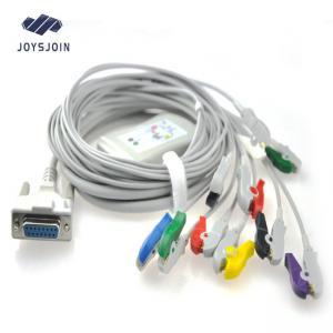 China Reusable Schiller 10- lead EKG Cable with ekg wires Banana 4.0mm AHA ekg machine parts clips on sale