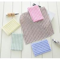 China 6 Colors Custom Plain Tea Towels , Eco - Friendly Waffle Weave Kitchen Towels  wholesale