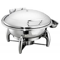 China 6.0Ltr Round Hydraulic Chafing Dish Full Stainless Steel Lid Induction Or Spirit Heat Source Dia.35cm Food Pan on sale