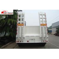High Point Load Low Flatbed Semi Trailer With Mechanical Suspension