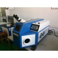 China Gold Welding Machine Blue Color , Laser Soldering Machine For Advertising Words wholesale