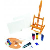 China 21pcs Art Painting Set With Table Easel / Palette / Canvas / Brushes / Colors wholesale