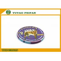 Purple Miami Ept Ceramic Poker Chips Professional With A Lovely Dog for sale