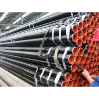 China API 5L Astm A53 A106 Seamless Steel Pipe With Black Coating Bevelled End And Caps wholesale