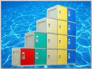 China Clover Keyless Plastic Gym Lockers 5 Tier 1810 × 310 × 460mm Red Storage Lockers wholesale