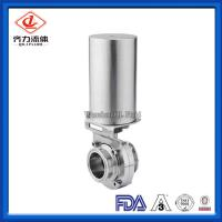 China 316L  Forged Ss Butterfly Valves  Sanitary Stainless Steel Butterfly valves  With Clamp End on sale