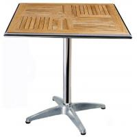 China Cafe Aluminum Outdoor Table With Weather - Resistan Dimensions 600mm  7.1kg wholesale
