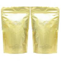 China Full Printed Glossy Tea Packaging Pouches Zipper Light Gold Stand Up wholesale