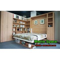 Quality Double Wooden Functional Bed Space Saving Furniture with Office Table for sale