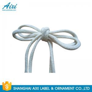 China 100% Cotton Webbing Straps Printed Flat Cotton Elastic Cord Shoelace wholesale