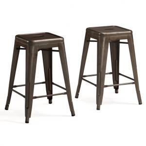 China Professional Marais Cafe Restoration Metal Tolix Chairs , Tolix Counter Stool wholesale
