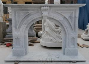 China Marble Fireplace Solid Natural Stone Fireplace Handcarved Modern Home Decorative wholesale