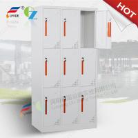 China Steel godrej storage locker with recessed handle,Knocked down structure,white color on sale