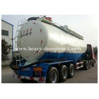 China Stainless Steel / Aluminum 40cbm to 70cbm Tri axle cement tank trailer with 2 tool boxes wholesale