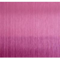 China HL Pink Hairline Stainless Steel Decorative Sheet For KTV Indoor Decoration Plate wholesale