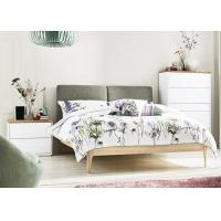 China Ash Wood + MFC Modern Bedroom Furniture Sets With Fabric Bed Head 3 Years Guarantee on sale